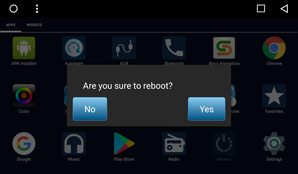 Reboot application on SMARTY Trend